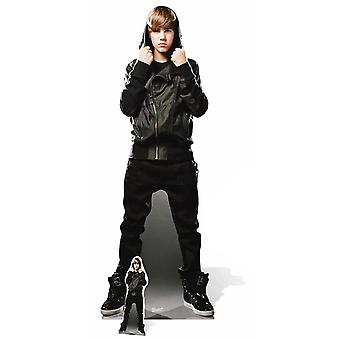 Justin Bieber Black Leather Jacket My World Lifesize Cardboard Cutout / Standee / Stand Up