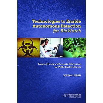 Technologies pour permettre la détection autonome pour BioWatch - Assurer Ti