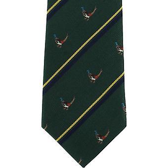 Michelsons av London fasan siden slips - grön