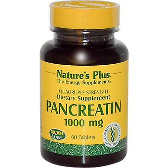 Nature's Plus Pancreatin 1000mg Tabs 60 (4380)