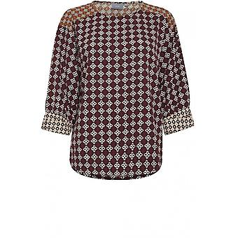 b.young Bold Patterned Blouse