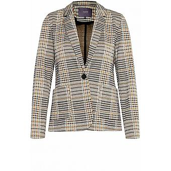 b.young Check Print Tailored Jacket