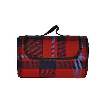 Family Sized Picnic Blanket Rug With Waterproof Backing Tartan 150 x 130cm