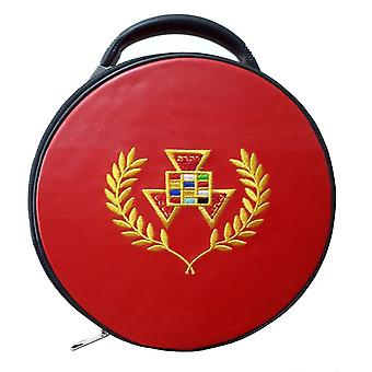 Masonic verleden hogepriester php krans hoed / cap geval rood