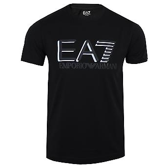 Ea7 emporio armani men's black logo t-shirt