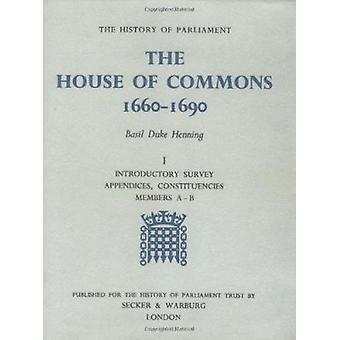 The History of Parliament - the House of Commons - 1660-1690 (3 vols)