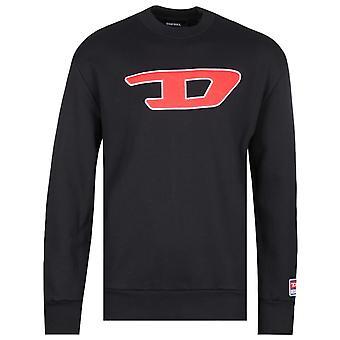 Diesel Large Chest Logo Black Sweatshirt