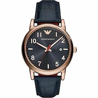 Emporio Armani AR11135 Dress Calfskin Band Steel Quartz Men's Watch