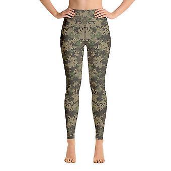 Workout Leggings | Yoga Leggings | Kamouflage | Grön kamouflage #1