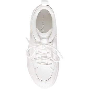 Madden Girl Womens bounce Leather Low Top Lace Up Fashion Sneakers