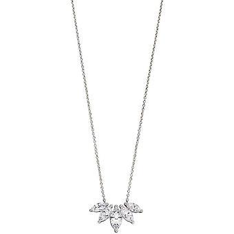 elementer sølv marquise halskjede - sølv