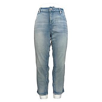 Laurie Felt Women's Petite Jeans w/ Slim Fit & Ankle Length Light Blue A375166