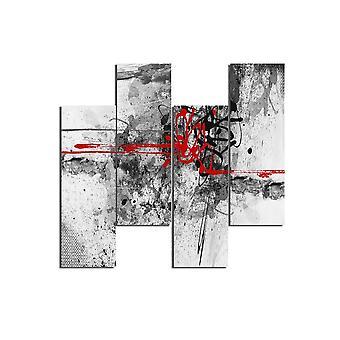 Afbeelding Rood 344 Veelkleurig in MDF, L19xP0.3xA50 cm (4 stuks)