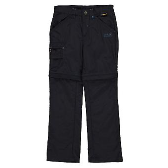 Jack Wolfskin Kids Safari ZO Trousers Pants Zip Off Regular 3 Pockets Bottoms