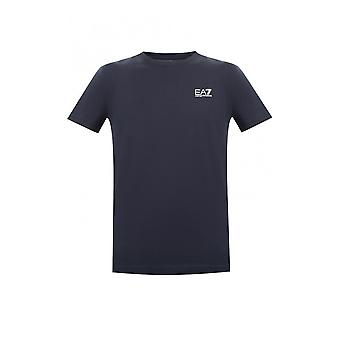 EA7 by Emporio Armani Cotton Simple Navy T-shirt