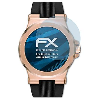 atFoliX 3x Screen Protection Film compatible with Michael Kors Access Dylan 46 mm matt&shockproof