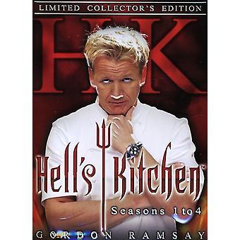 Hell's Kitchen - Hell's Kitchen: Season 1-4 Raw & Uncensored [DVD] USA import