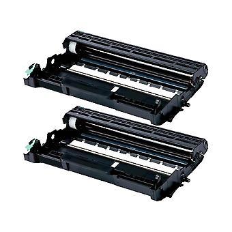 RudyTwos 2 x erstatning for Brother DR2300 trommelenhet svart kompatibel med HL-L2300D, HL-L2320D, HL-L2340DW, HL-L2360DN, HL-L2360DW, HL-L2365DW, HL-L2380DW, DCP-L2500D, DCP-L2520DW, DCP-L2540DN, DCP-L