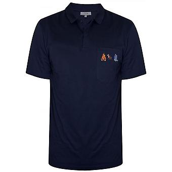 Lanvin Navy Blue Firebird Polo Shirt