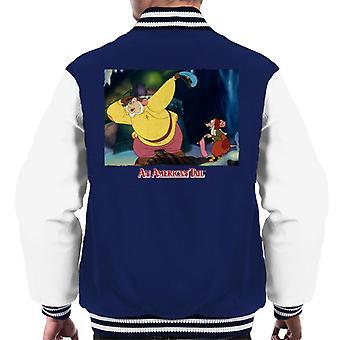 An American Tail Papa Searching Men's Varsity Jacket
