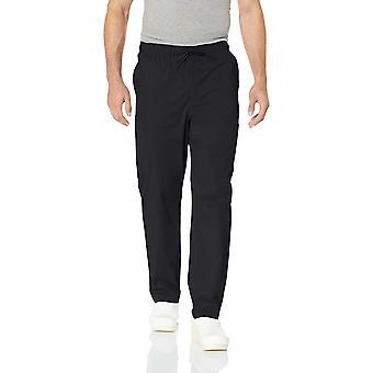 Essentials Men's Quick-Dry Stretch Scrub Pant, Negru, X-Large