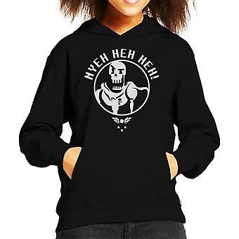 Undertale Papyrus Hyeh Heh Heh Kid's Hooded Sweatshirt