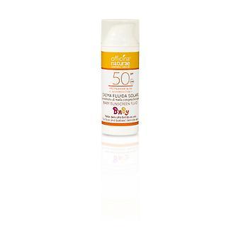 Fluid sun cream SPF 50 Baby high protection 50 ml of cream
