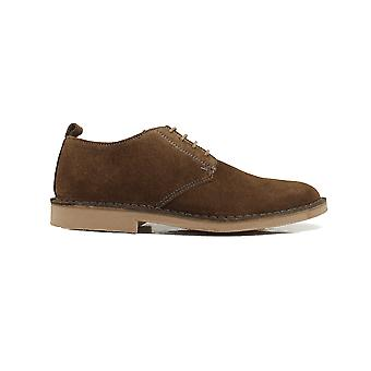 Loake Mojave Brown Suede Leather Mens Derby Shoes