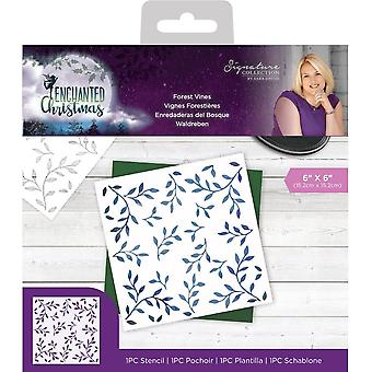 Crafter's Companion Enchanted Christmas 6x6 Inch Stencil Forest Vines