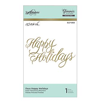 Spellbinders Faux Happy Holidays Hot Foil Plate