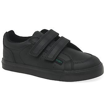 Kickers Tovni Twin Riptape Boys School Shoes