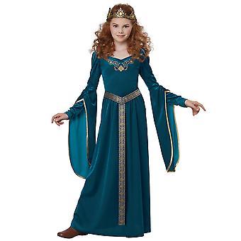 Médiévale princesse Lady Guinevere Renaissance Blue Game of Thrones Costume filles