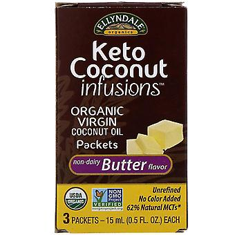 Now Foods, Ellyndale Naturals, Keto Coconut Infusions, Non-Dairy Butter Flavor,