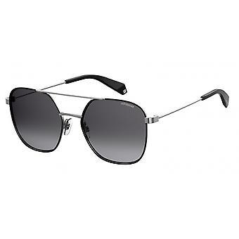نظارات شمسية للجنسين 6058/S284/WJ الفضة / الرمادي