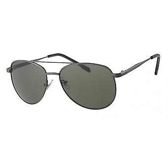 Sunglasses Men's Silver with Green Lens (A 10321)