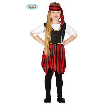 Guirca Piratin Korsarin Kostüm für Mädchen Karneval Seeräuberin