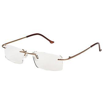 Reading glasses Unisex Libri_x Modern Brown Strength +3,00