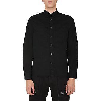 C.p. Compañía 09cmsh184a002824g999 Men's Camisa de algodón negro