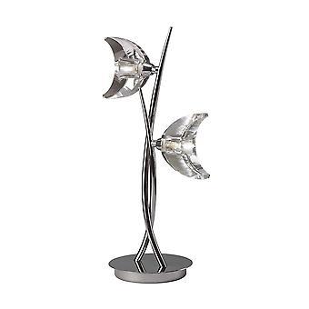 Tafellamp 2 Licht G9, Gepolijst chroom