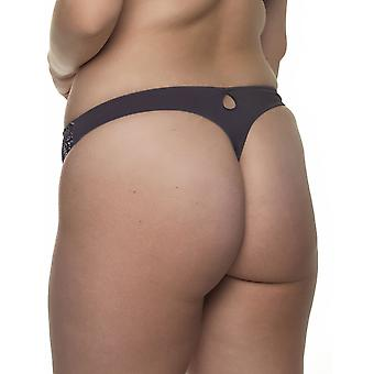 After Eden D-Cup & Up 20.35.7561-461 Women's Lauren T.T. Dark Grey Lace Panty Thong