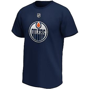 Edmonton Oilers NHL skjorte #29 Leon Draisaitl marineblå