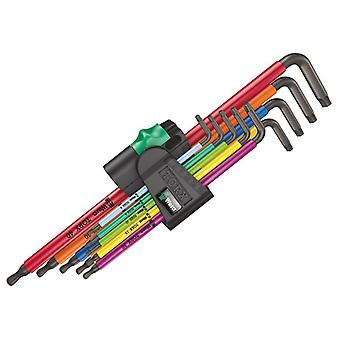 Wera 967/9 TORX XL BL MC L-Key Set of 9 (TX8-TX40) 05024480001