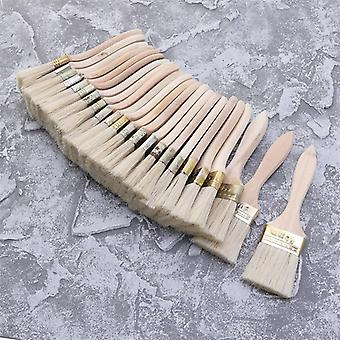 23pcs 0f Wooden Handle Bristle Brush For Wall And Furniture Painting