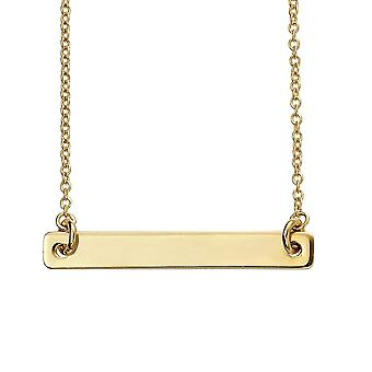 Débuts Sterling Silver Gold Plated Id Bar Necklace N4380