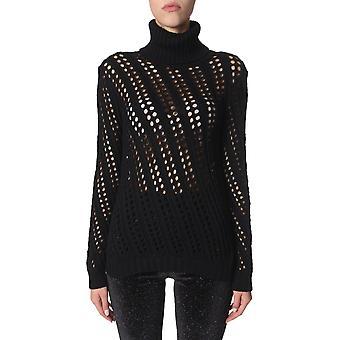 Filosofia Por Lorenzo Serafini 091771000555 Women's Black Wool Sweater