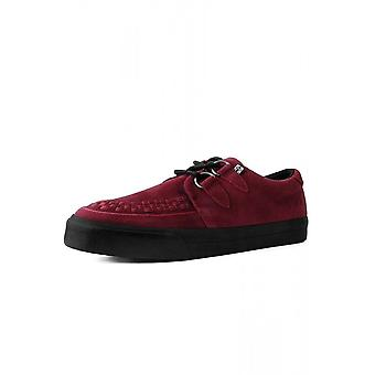 TUK Shoes Red Suede Creeper Sneaker