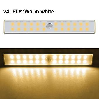 Rechargeable 24/40/60 Leds Cabinet Pir Motion Sensor Light Bar For Closet