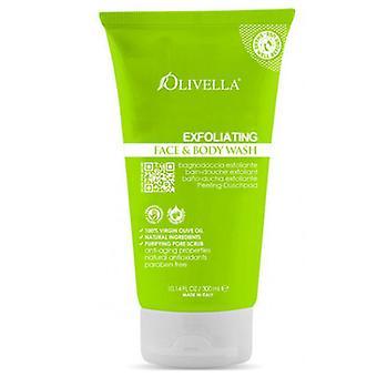 Olivella Exfoliating Face & Body Wash, 10.14 Oz