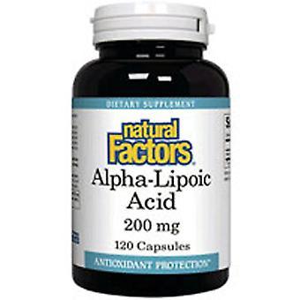 Natuurlijke factoren AlphaLipoic Acid, 200mg, 60 Caps