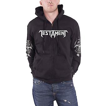 Testament Hoodie Pitchfork Horns Band Logo new Official Mens Black Pullover